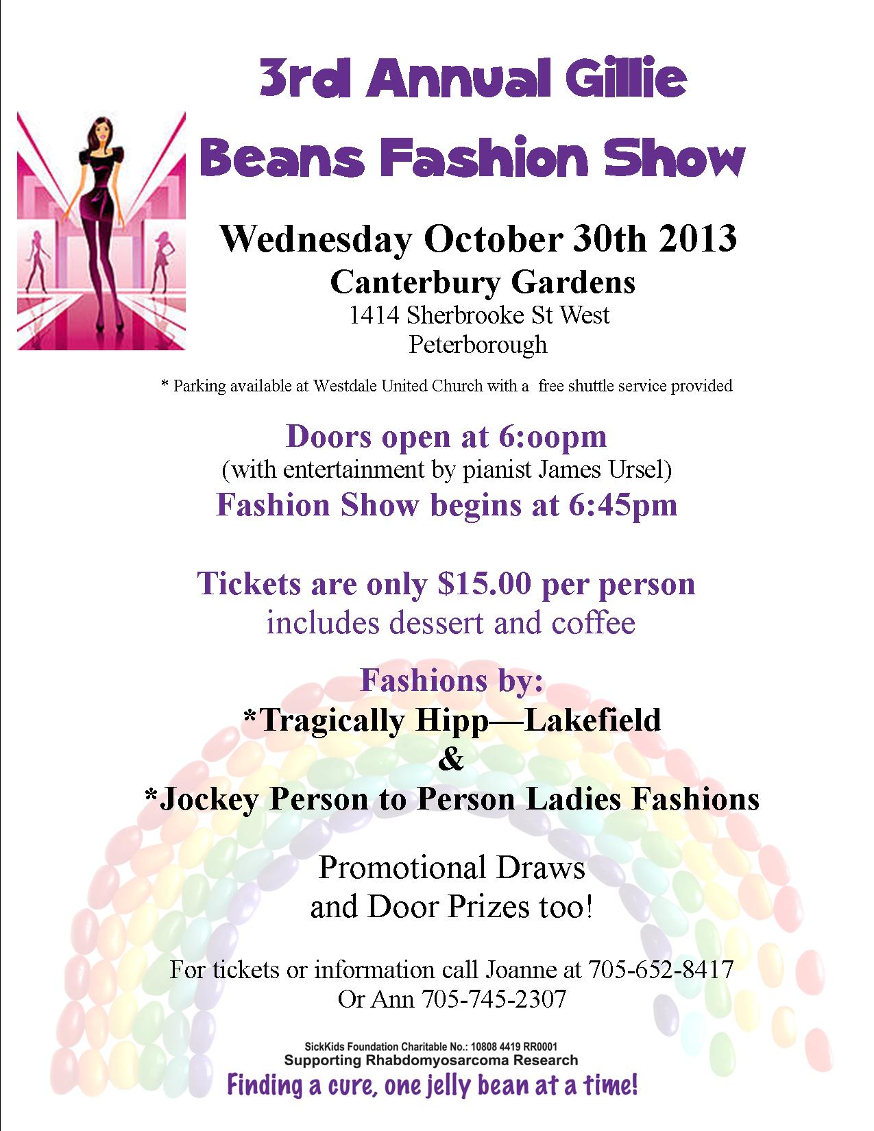 2013 fashion show flyer